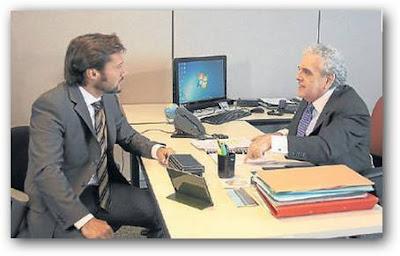 Antonio Gasalla jefe de Diego Torres en Vecinos en Guerra