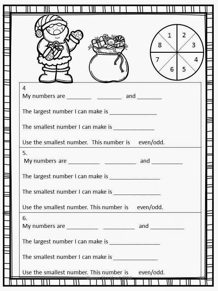math worksheet : super second grade smarties free christmas activity 12 days of  : Free Christmas Activities For Second Graders