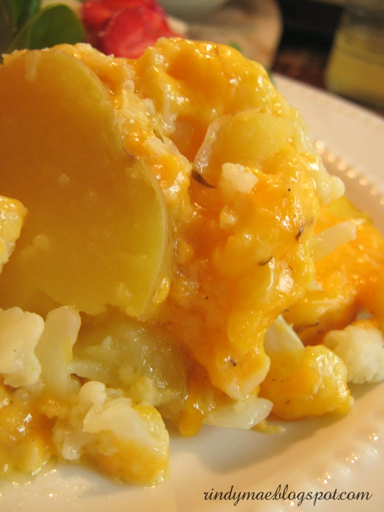 Rindy Mae: Potato, Cauliflower, & Cheddar Bake