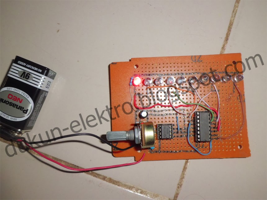 Dukun elektro rangkaian led berjalan bolak balik knight