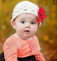 Baby Images With Flower Cap Kids Pictures Orange Dress