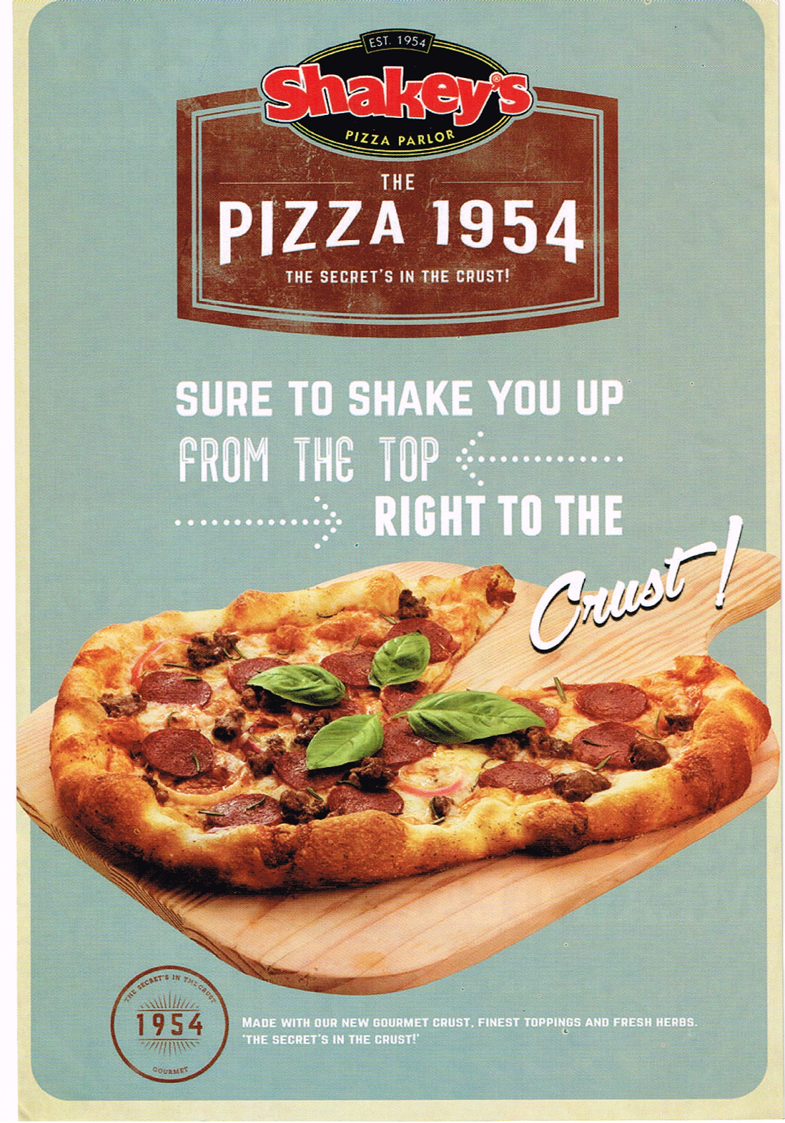 Shakey's The Pizza 1954: The Secret's In The Crust!