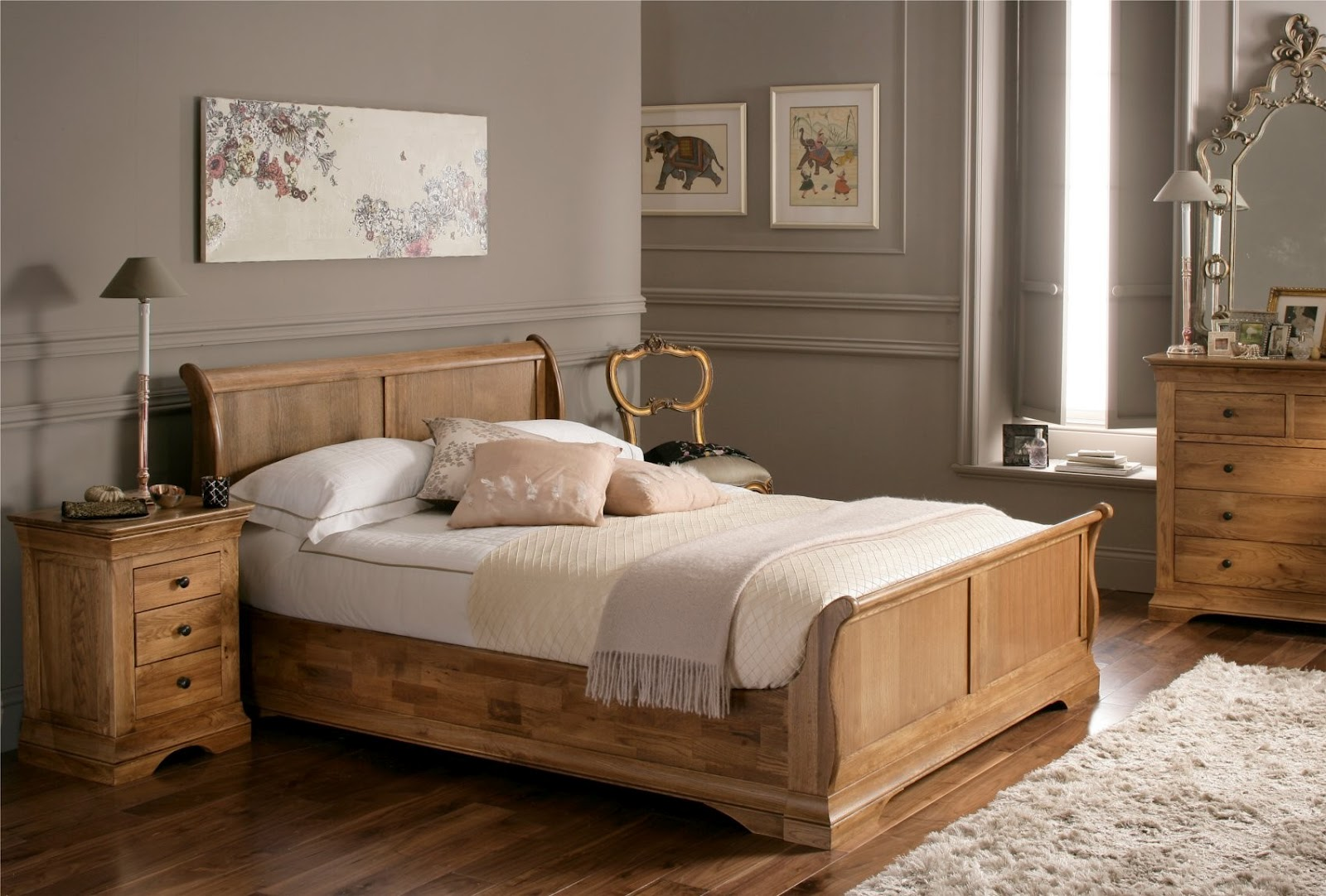 South shore decorating blog why a bed makes a bedroom a for Bedroom ideas pine furniture