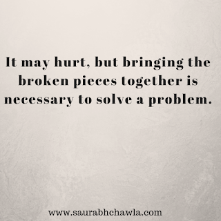 bringing back the broken pieces together