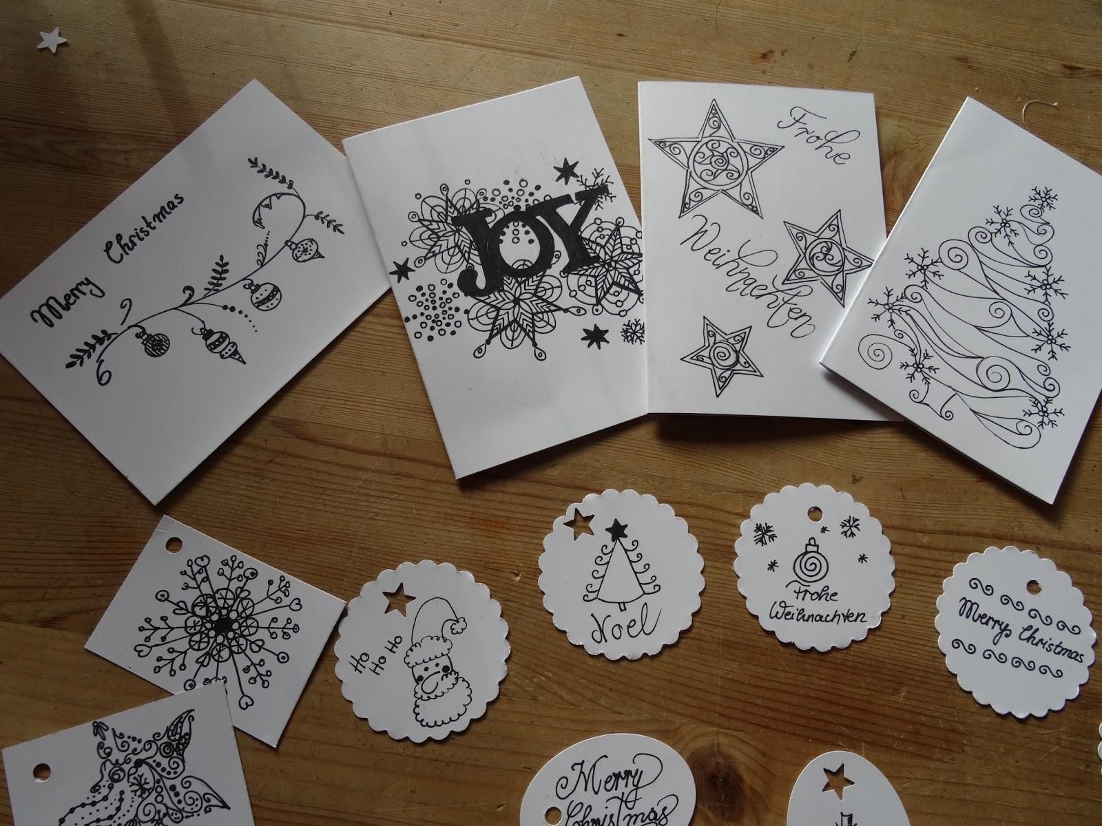 majamade basteln f r die weihnachtszeit teil 2 diy weihnachtskarten geschenkanh nger. Black Bedroom Furniture Sets. Home Design Ideas