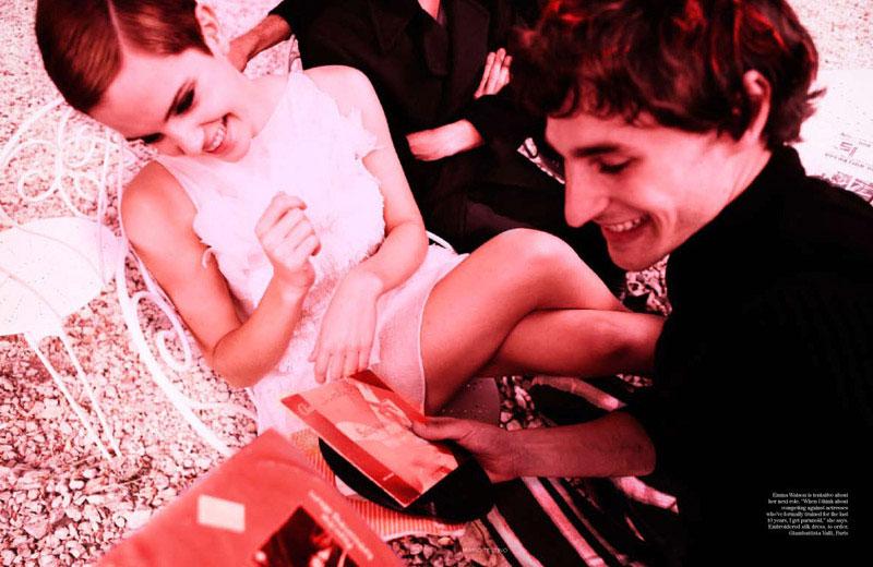 emma watson vogue july cover. Emma Watson, Vogue US-Vogue UK