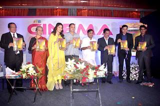 Madhuri Dixit, Subhash Ghai & Shreyas Talpade at Unveil of  'Its Only Cinema' magazine
