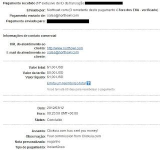 Pagamento ClickSia - PTCs em Prática