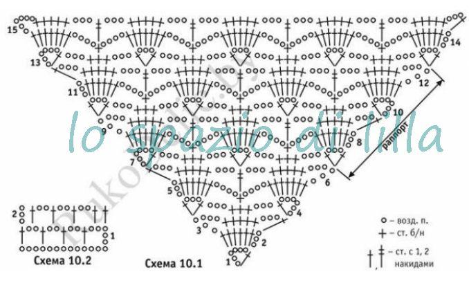 вязание крючком со схемами для дома