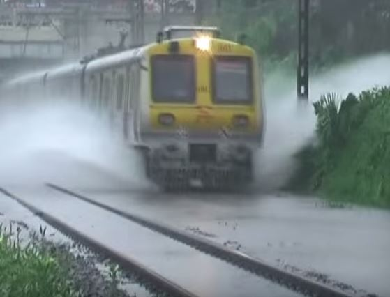 train behind schedule runs on water to reach its destination