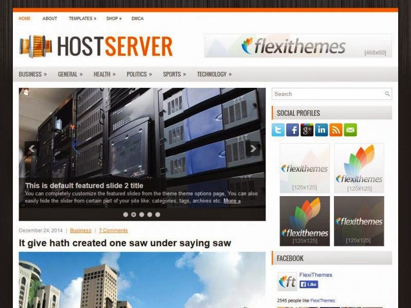 HostServer - Free Wordpress Theme