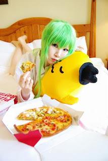 Code Geass CC+pizza Cosplay by Tatsuya
