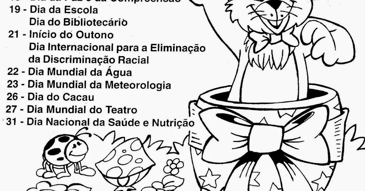 Well-known ESPAÇO EDUCAR: Datas Comemorativas do Mês de Março! CI55