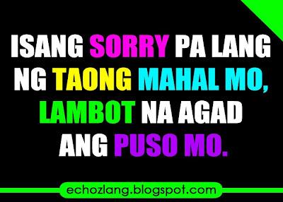 Isang sorry palang ng taong mahal mo lambot agad ng puso mo.