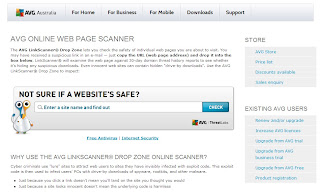 AVG ONLINE WEB PAGE SCANNER