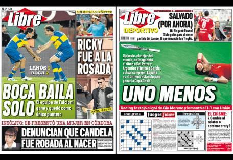 Tapa diario libre boca solo report show el mundo del for Diario el show del espectaculo