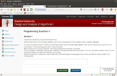 Stanford Algorithms Coursera