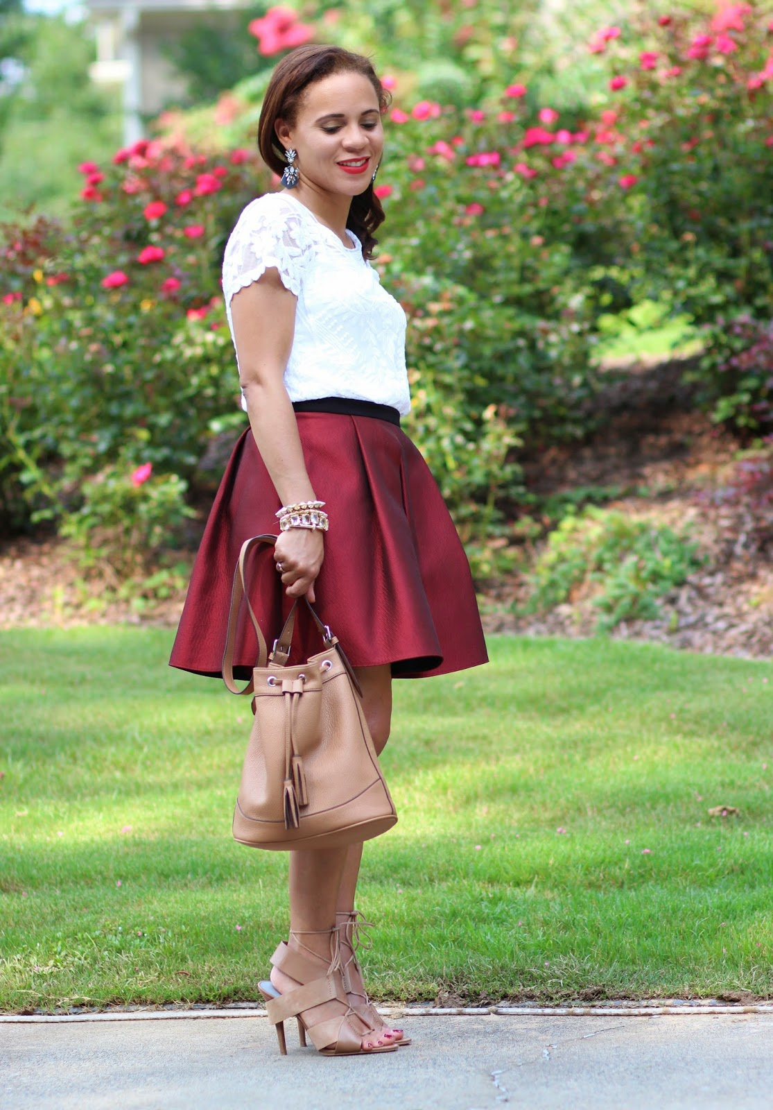 Red-tibi-skirt