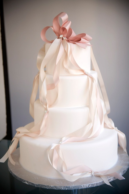 Wedding Ribbons Cake Decor