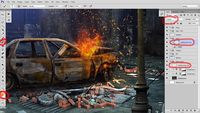 32 Tutorial Photoshop Dramatic Manipulation WAR part 2