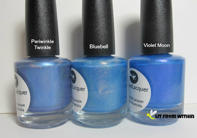 Lilypad Lacquer blue bottle shot