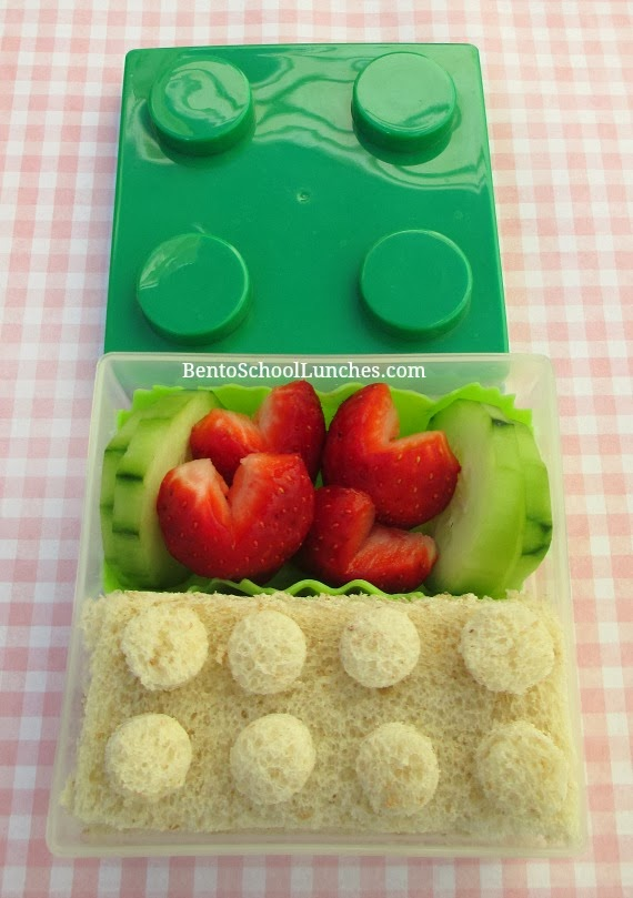 Lego snack, bento school lunches