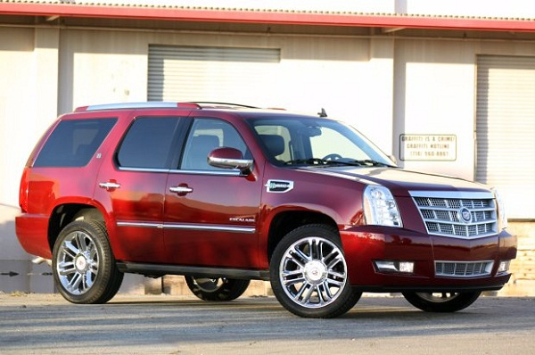 Red Cadillac Escalade SUV   Cars Online Modifications