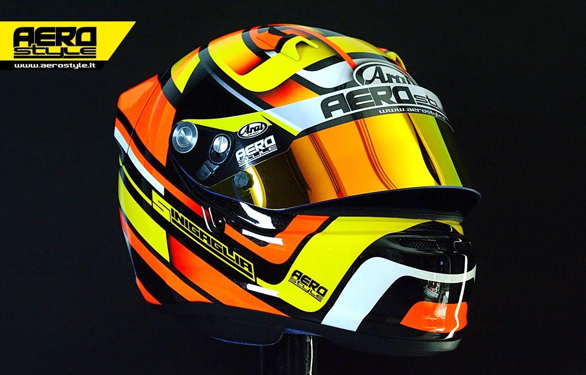 racing helmets garage arai sk 6 sinigaglia 2014 by. Black Bedroom Furniture Sets. Home Design Ideas