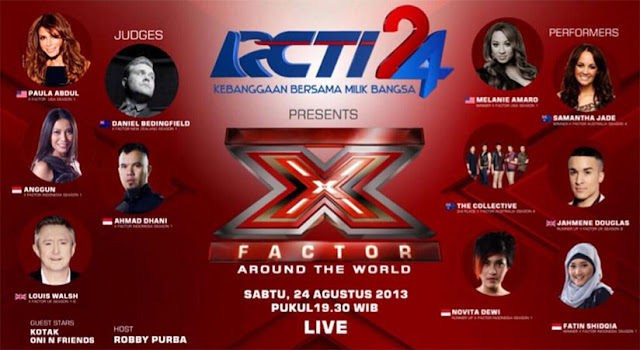 Hasil X Factor Around The World Indonesia 24 Agustus 2013