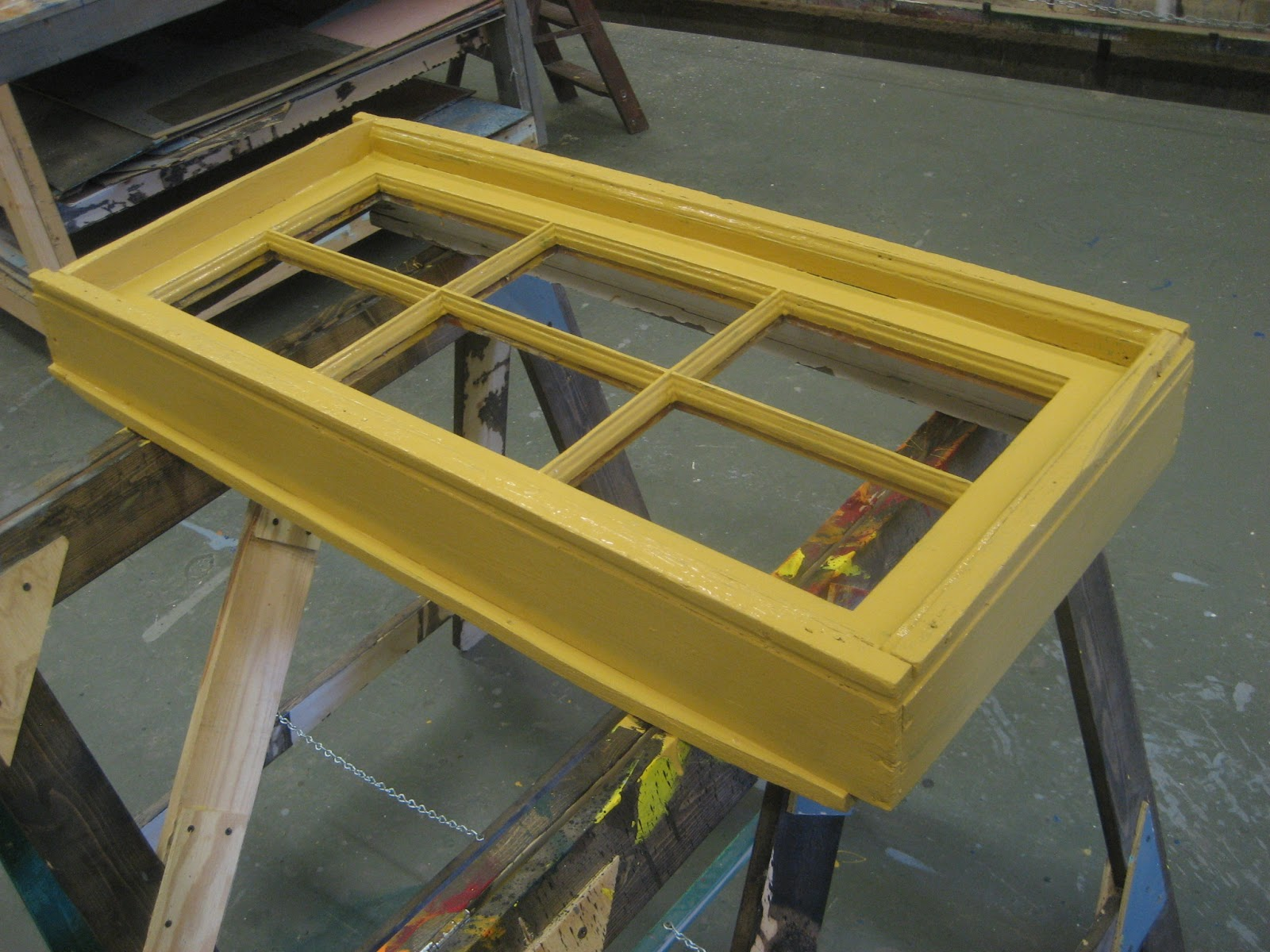 Chuck Does Art: DIY Hanging Window Frame Tillandsia (air plant ...