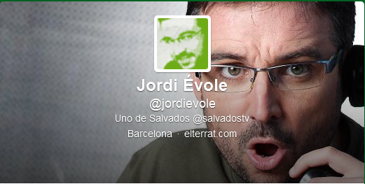 Imagen del Twitter de Jordi Évole - http://twitter.com/jordievole