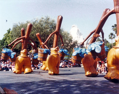 Fantasia Brooms Disneyland Flights of Fantasy Parade 1983