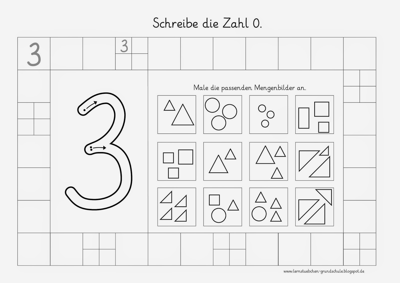 Lernstübchen: Zahlen schreiben - Mengen erkennen