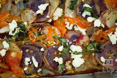 Mustard Scalloped Potatoes and Radishes Recipe