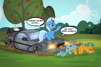 """""""It's no use, Marty. The fastest horse in world can't run more than 35, 40 miles per hour."""""""