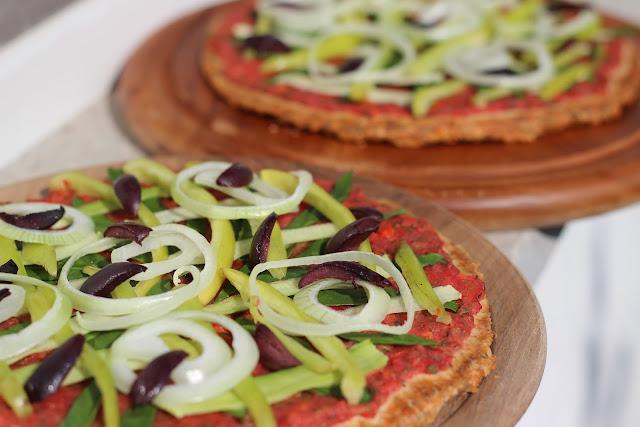 pizza, heljda, buckweat, presno, raw