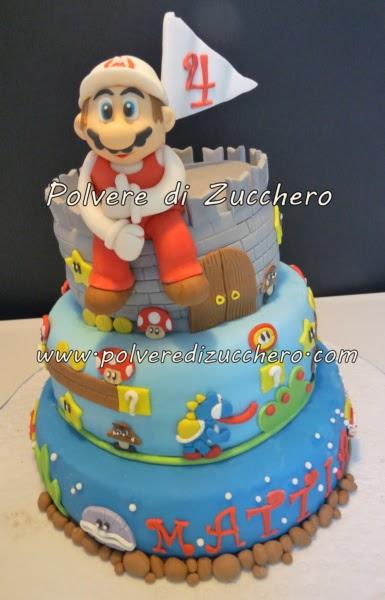 Torta Super Mario Bros Pesci Funghetti E Draghetto Per