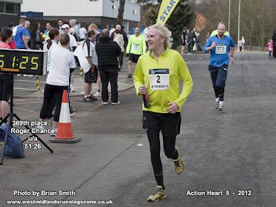 Across the finishing line I go!