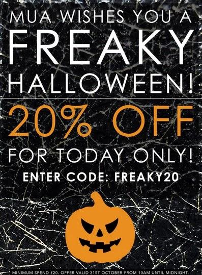 MUA - Sconto 20% per Halloween 2013