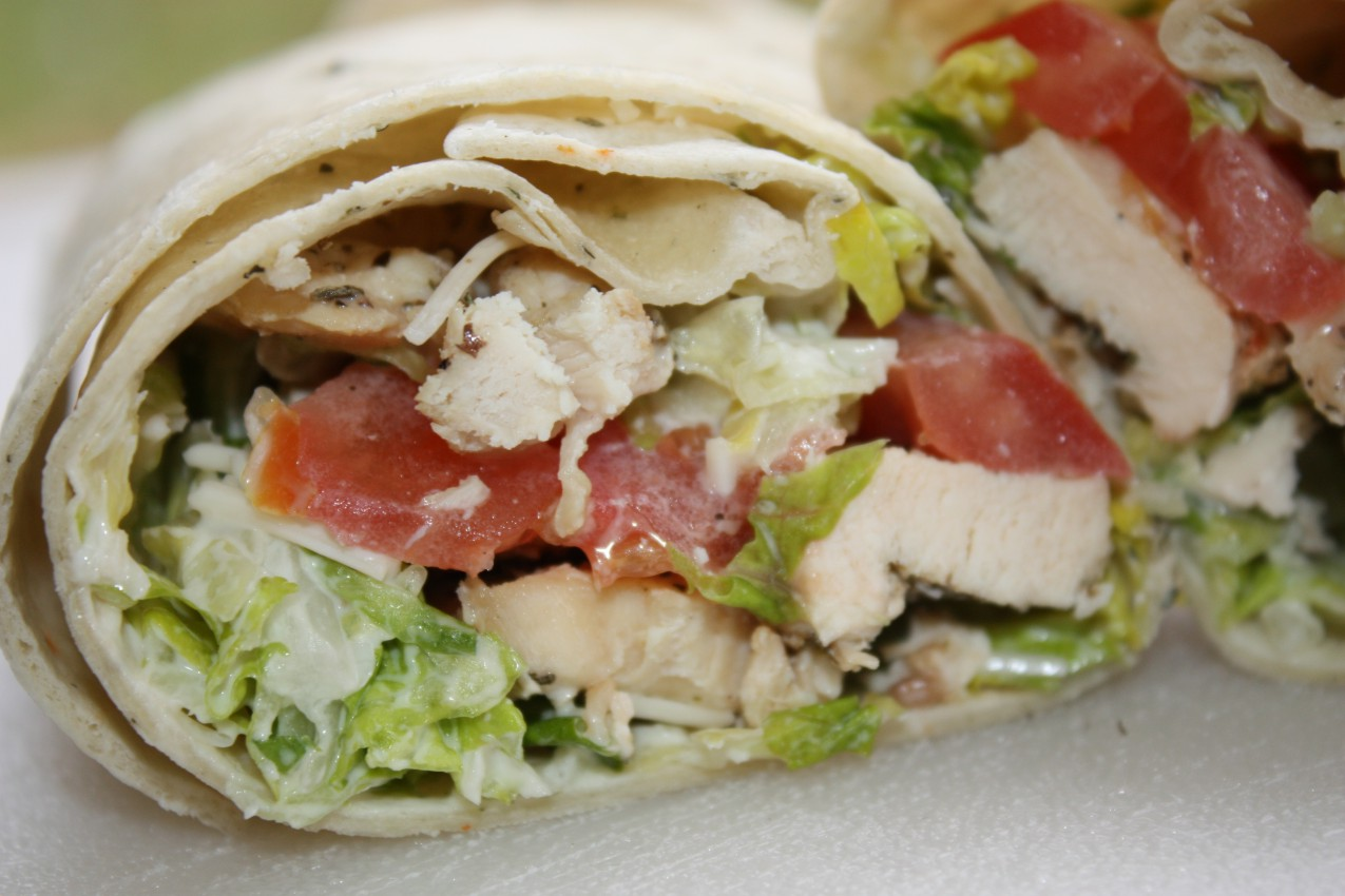 pass the peas, please: chicken ceasar wraps