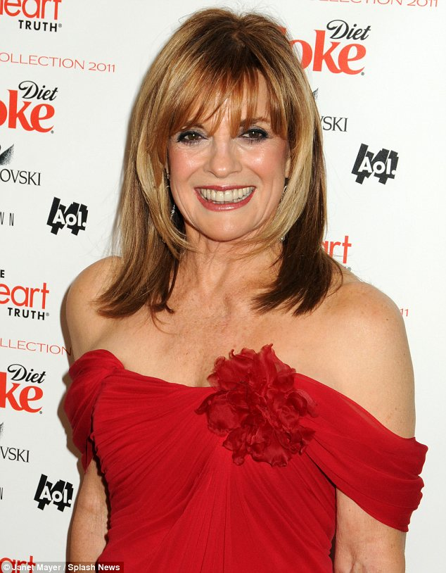 at 70 linda gray sue ellen ewing looked absolutely fabulous in nyc