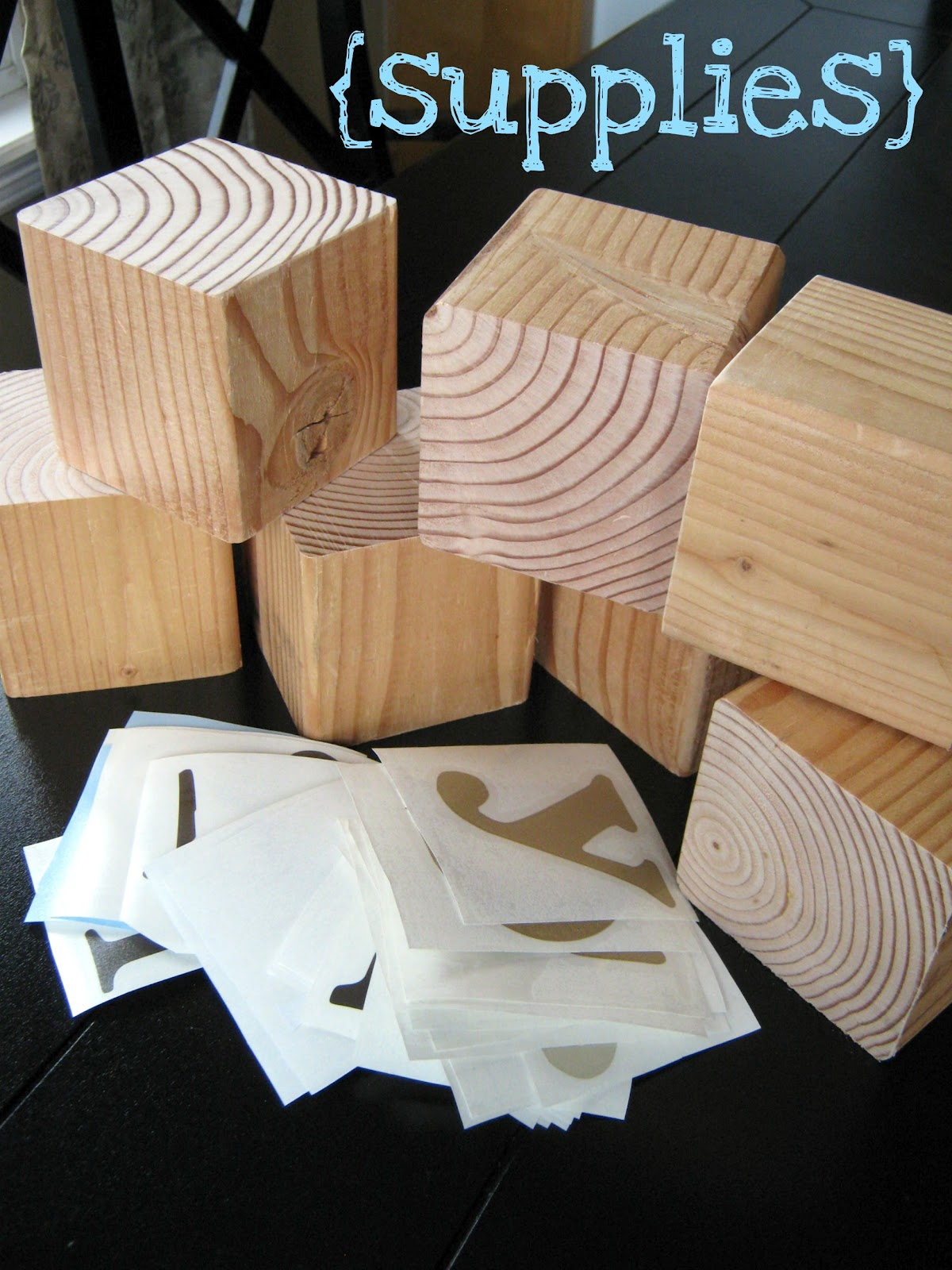 wood blocks craft
