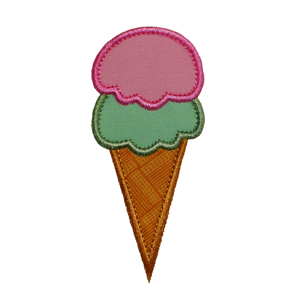 big dreams embroidery icecream cone two scoops machine embroidery applique design pattern. Black Bedroom Furniture Sets. Home Design Ideas