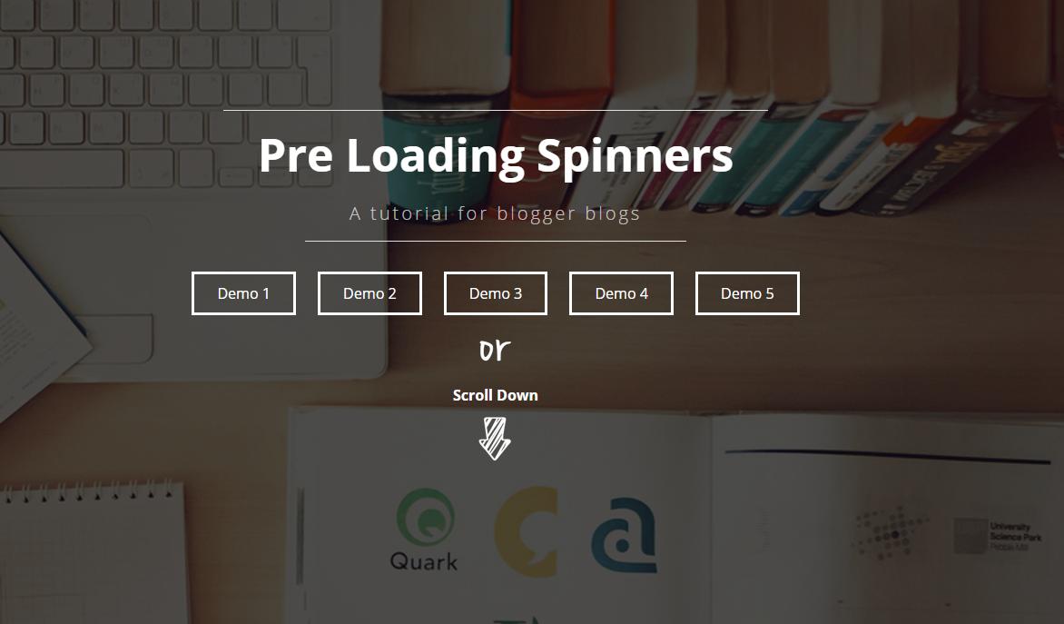 [Tips] - Thiết kế trang loading chờ tải trang cho Blogger