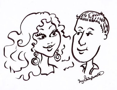 Wedding entertainment Weddings parties & events caricatures Ingrid Sylvestre North East UK