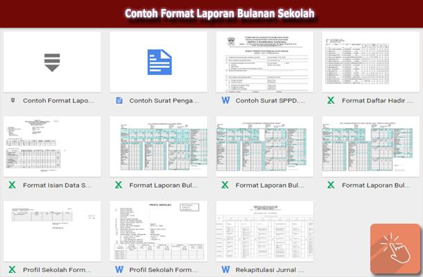 Download Contoh Format Laporan Bulanan Sekolah