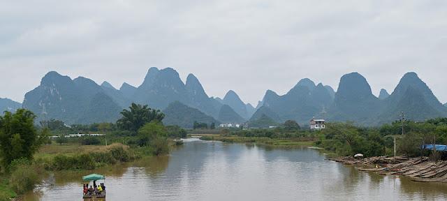 Paysage aux environs de Yangshuo