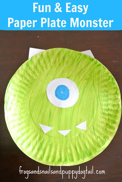 Paper Plate Monsters - Frogs & Snails & Puppy Dog Tails