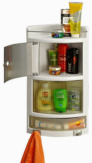 Buy Cipla Plast Crystal Corner Cabinet White at Rs.511 after cashback: Buy To Earn