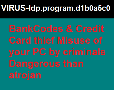 Harmful Virus Idp.program.d1b0a5c0 bank detail thief Actions and Removal